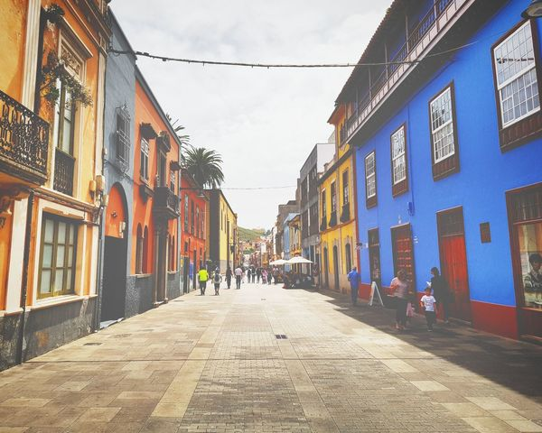 SPAIN Tenerife Island Travel Holidays On The Road Colour Town Square Summer Sun Traveling