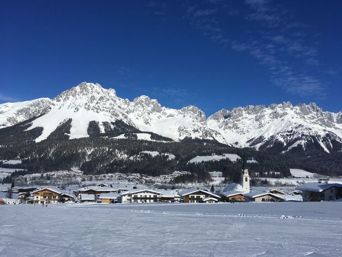 Winter Snow Cold Temperature Mountain Scenics - Nature Beauty In Nature Sky Snowcapped Mountain Mountain Range Environment Nature Landscape Tranquil Scene No People Blue Tranquility Day Idyllic Non-urban Scene Outdoors Mountain Peak Tyrol Skiing Leisure Activity Winter Sport