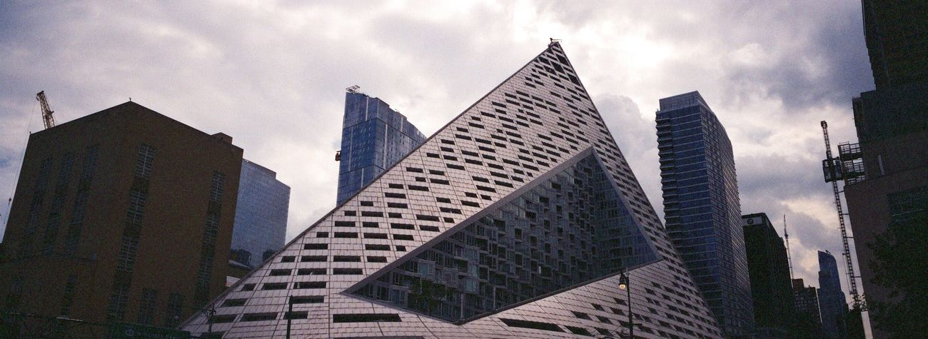 Skyscraper Architecture Modern Building Exterior Hasselblad XPan Hudson River Park Koduckgirl NYC