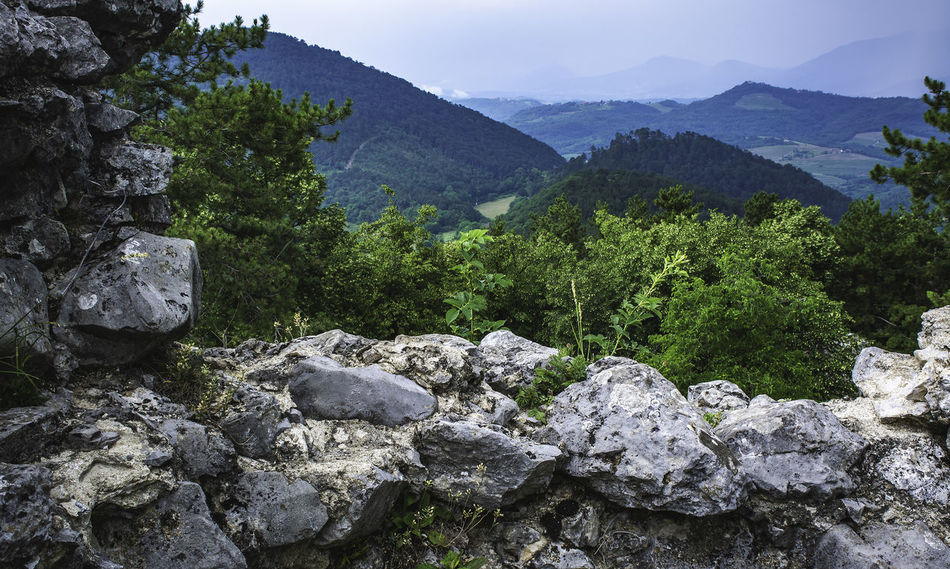 Ruins Slovenia Beauty In Nature Day Environment Green Color Growth Land Mountain Mountain Range Nature No People Non-urban Scene Outdoors Plant Rock Rock - Object Scenics - Nature Solid Tranquil Scene Tranquility Tree The Great Outdoors - 2018 EyeEm Awards