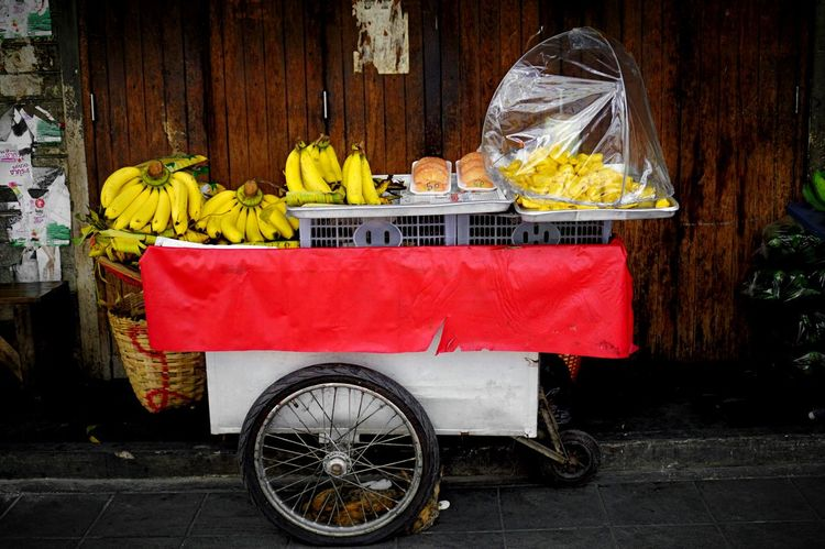Fruit Food And Drink Food Banana No People Red Outdoors Healthy Eating Day Freshness City Copy Space The Week On EyeEm Street Vendor Streetfood Cart Fruit Stall Bangkok Thailand