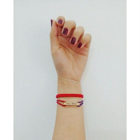 Got a new bracelet with my name on it ? ? Bracelet Signature Vampirenailpolish Hairelastic cute love vscocam vsco linecam