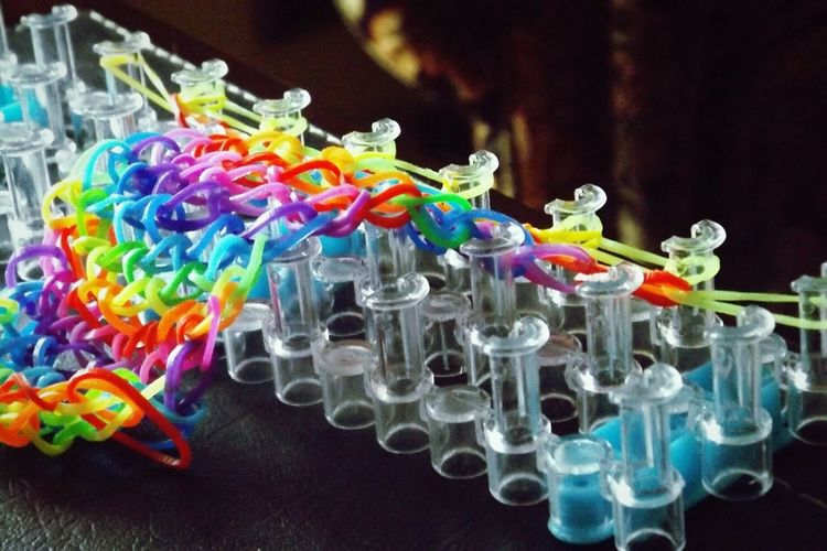 Colourful Handcraft Colourful Handcraft Fluo Bracelets Creativity Macro Photography At Home Stuff Goodidea Goodie Make Magic Happen