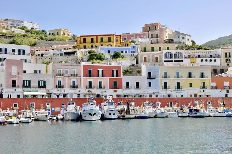 Architecture Building Building Exterior City Cityscape Colorful Harbor Harbor View Holiday House Island Isola Di Ponza  Italy Nautical Vessel Outdoors Residential Building Residential Structure Sea Travel Destination Travel Destinations Water Yacht Yachting