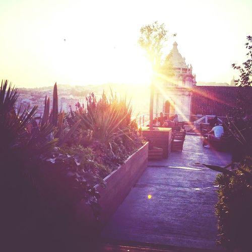 — Lisboa Listening To Music Rooftop