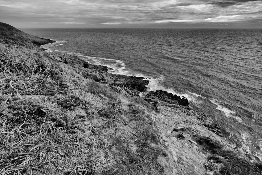 Langland Bay. Swansea, Wales 2016 ivandimarcophotography.com Beauty In Nature Calm Cloud - Sky Coastline Day Horizon Over Water Idyllic Langland Bay Nature No People Non Urban Scene Non-urban Scene Ocean Outdoors Remote Rock - Object Rock Formation Scenics Sea Seascape Shore Sky Tranquil Scene Tranquility Water