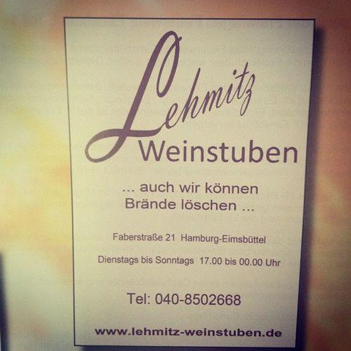 die gute alte anzeige! #lehmitzweinstuben #eimsbüttel Eimsbüttel Lehmitzweinstuben