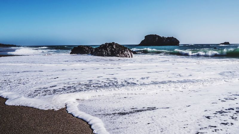 Sonoma Coast Northern California Pacific Ocean Land Beach Sea Water Sky Scenics - Nature Beauty In Nature Tranquility Tranquil Scene Horizon Over Water Sand
