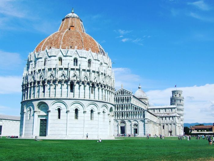 Pisa Baptistry Of St John Against Sky At Piazza Dei Miracoli