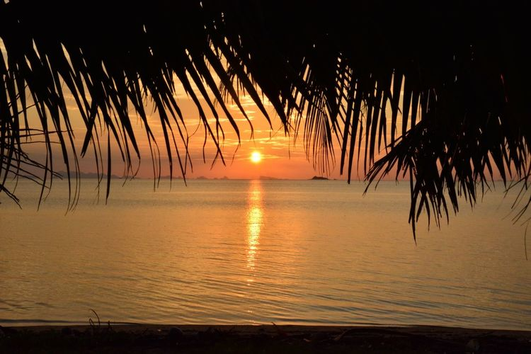 Sunset Sun Reflection Silhouette Water Nature Sky Sunlight Vacations Outdoors Sea Tranquility Tropical Climate Travel Destinations Beauty In Nature Tourism Beauty Tranquil Scene Travel Scenics