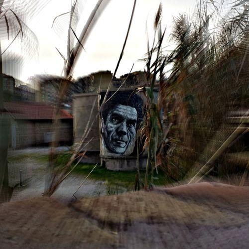 Ritratto Pasolini Portrait Ritratto, Portrait Pier Paolo Pasolini Hdr+ Blur Roma Rome, Italy