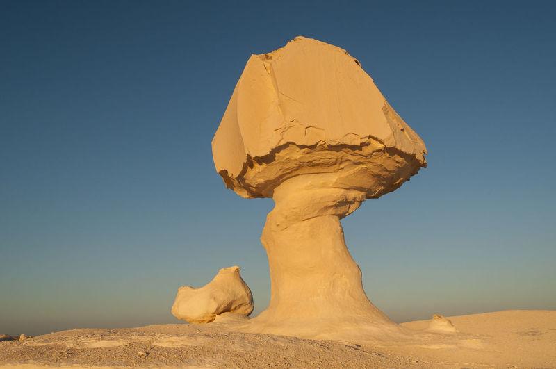 Chicken & Mushroom Rock Formation, White Desert (Sahara el Beyda), Egypt Chalk Chicken Desert Egypt Egyptian El Beyda Formation Landscape Libyan Limestone Mushroom Rock Rocks Sahara Stone Western White