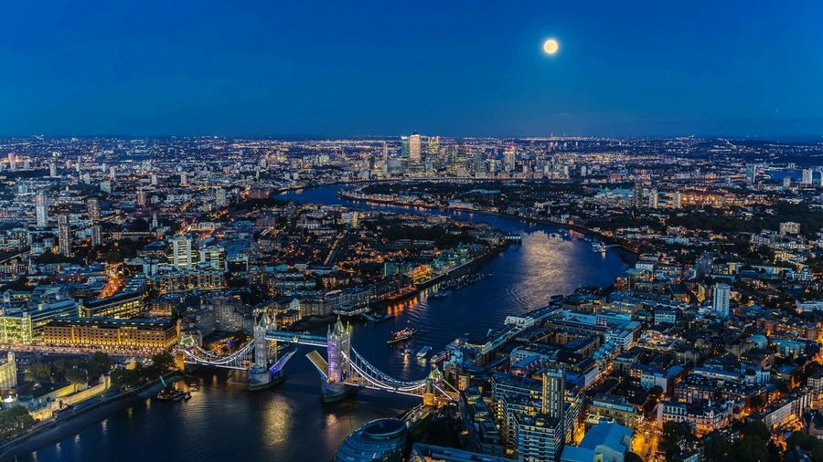 Monlight on Thames London At Night  Cityscape River Thames Tower Bridge  Canary Wharf Moonshine Blue Hour Handheld Exposure View From The Shard Landscape Photography Nightphotography Uk LONDON❤ Famous Place The City Light The City Light The Great Outdoors - 2017 EyeEm Awards Fresh On Market 2018