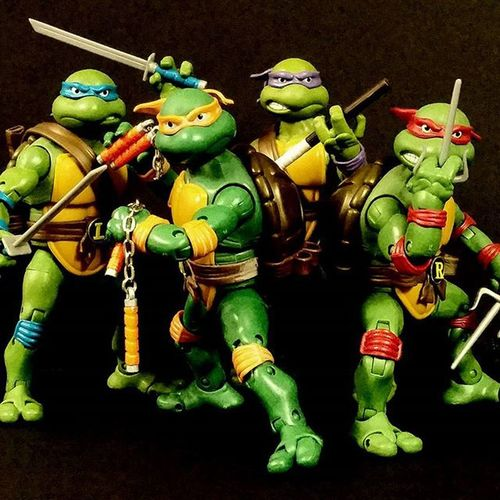 Love these Tmnt classic figures. Actionfigures Teenagemutantninjaturtles Playmatestoys Ninjaturtles Toys Figurephotography Actionfigurephotography Teenage Mutant Ninja Turtles  Tmntclassic