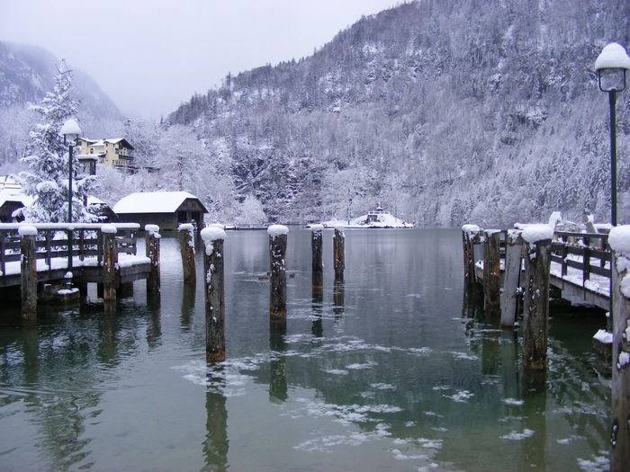 Winter On Lake Königsee Berchtesgadener Land