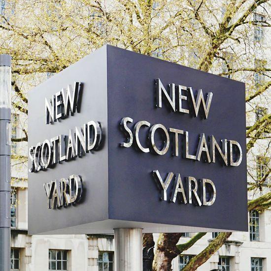 New Scotland Yard London New Scotland Yard Sign Revolving Sign Outdoors No People