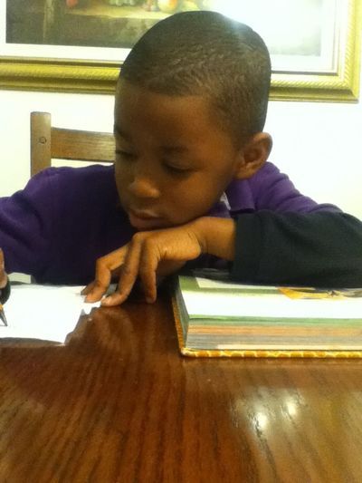 My Brother Doing His Homework