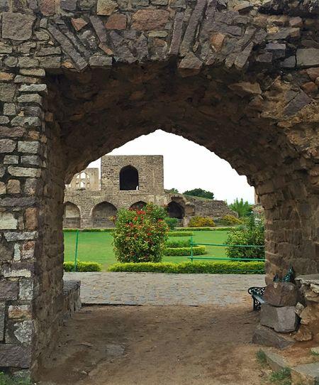 Hidden Garden Historical Building India Traveling Garden
