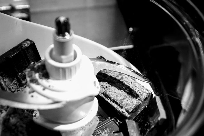 Indoors  Close-up No People Day Food Processor Mixing Ingredients Baking A Cake Black And White Photography Kitchen Kitchen Equipment