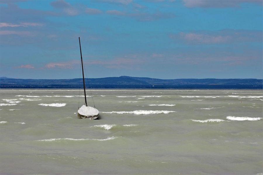 Beauty In Nature Day Horizon Over Water Mountain Nature Nautical Vessel No People Outdoors Scenics Sea Sky Tranquil Scene Tranquility Water Waterfront Let's Go. Together.