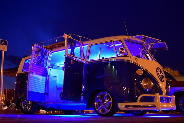 Volkswagen VW Bus Key West Mallory Square Car Show Twilight