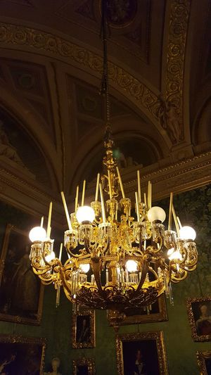 Palazzo Pitti Illuminated Lighting Equipment Indoors  Ornate Ceiling No People Low Angle View Architecture Florence Firenze Italy Italia Ancient Green Gold See The Light