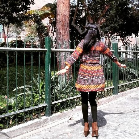 Peruvian Girl Young Vintage Dress Picoftheday Nature Sun Happy Girl Tree Espontánea Day Vestido  Brown Instagood