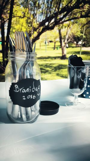 Celebrating our heritage; who we are and where we come from Braaidag Outdoorshot Cutlery Fork And Knife JamJar Time For A Picnic Grass And Leaves Studentlife