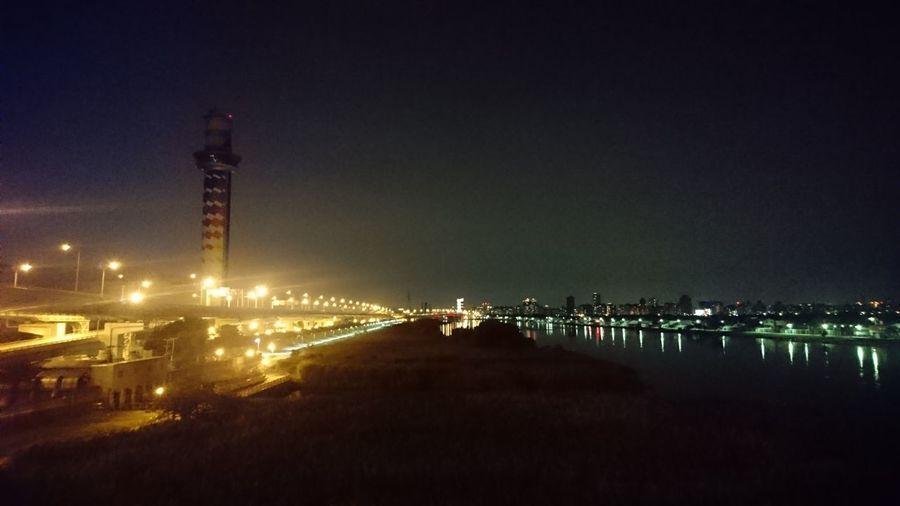 每天必經的美景 Night 社子島大橋