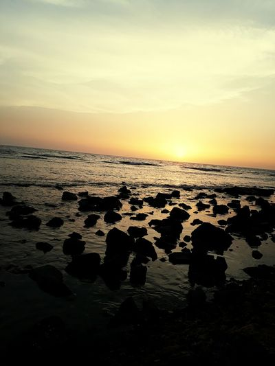 RedSea Jeddah😍❤️ Sunset Sea Beach Sky Horizon Over Water Reflection Sun Dramatic Sky Landscape Silhouette Beauty In Nature Tranquility Dusk Scenics Water Tourism Cloud - Sky Vacations Sand Wave