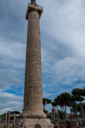 Sky Low Angle View Architecture Built Structure Architectural Column Cloud - Sky History Nature The Past Day Building Exterior Travel Destinations No People Tall - High Tree Outdoors Tourism Travel Plant Old Ancient Civilization Ruined Archaeology