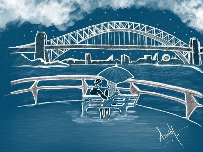 What if you find your soulmate at the wrong time? .. Sketch Candid EyeEm Best Shots EyeEmNewHere EyeEm Landscape Scenery Beauty In Nature Low Angle View Colors Sydney Australia Sketch Painting Art Drawing Love Friendship Travel Destinations Life Tranquility Soulmate Beauty Night Rain Sea Sky Amusement Park Popular Music Concert Carousel