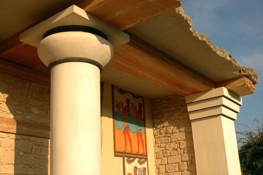 Archaeological site of Knosso, Crete Crete Greece Greece, Crete Knossos Knossos Palace Archaeological Sites Architectural Column Architecture Building Exterior Built Structure Famous Place Frescoes History Old Ruin Outdoors Travel Destinations