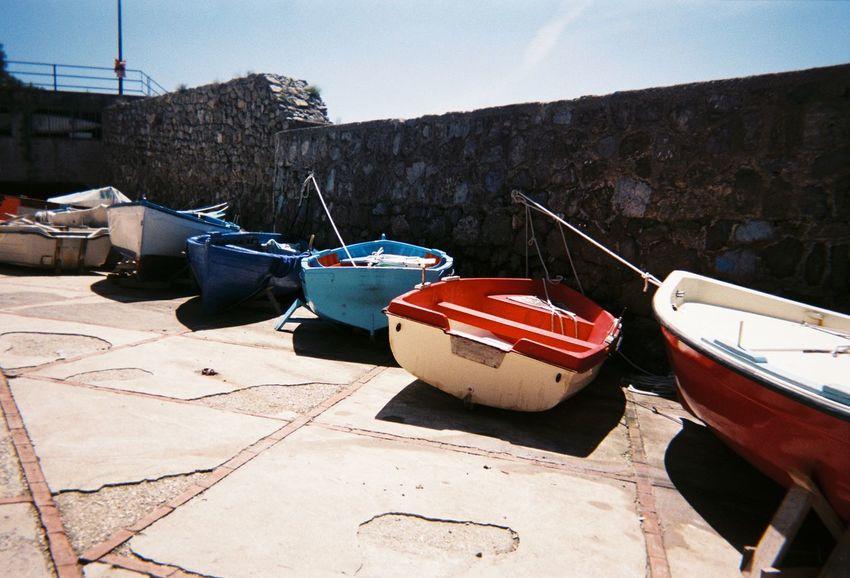 Amalfi Coast Fishing Boat Italy Mode Of Transportation Moored Nautical Vessel Rowboat Sky