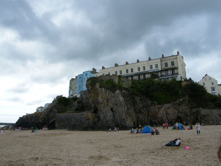 Architecture Beach Building Exterior Built Structure Cloud - Sky Coloured Houses Day Large Group Of People Nature Outdoors Pembrokeshire Pembrokeshire Coast Pembrokeshire Coastal Path Sand Seaside Seaside Town Sky Tenby