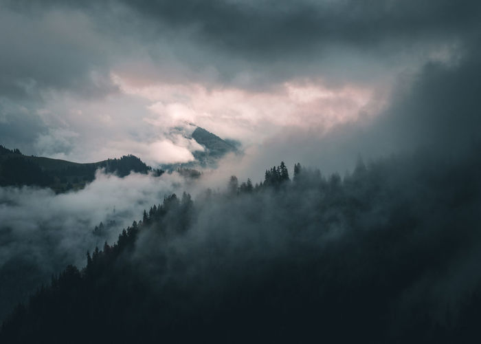 Morning view hiking in Zweisimmen Switzerland Morning Mountain View The Week on EyeEm Beauty In Nature Cloud - Sky Day Fog Forest Hazy  Landscape Mist Mountain Mountains And Sky Nature No People Outdoors Scenics Sky Swiss Mountains Switzerland Tranquil Scene Tranquility Tree Weather