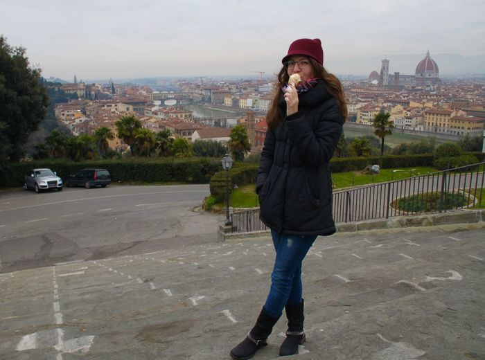 Mmm gelato)) Architecture Built Structure City Cityscape Delicious Delight  Firenze Florence Full Length Gelato Italy Leisure Activity Lifestyles One Person Outdoors Standing Tourist Traveling Young Adult Young Women