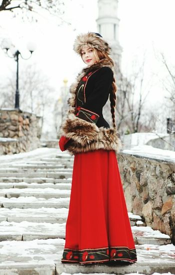 Winter Beautiful People Red Only Women Young Adult One Woman Only Young Women Beauty Adults Only Women Beauty In Nature Adult Cold Temperature Fashion Beautiful Woman Coat Blond Hair One Person Tree Autumn