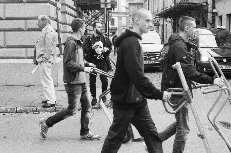 Streetphotography Streetphoto_bw Krakow Poland People First Eyeem Photo Analogue Photography