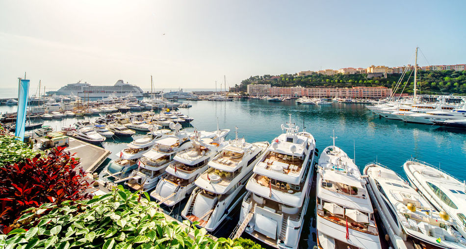 Port in Monaco City Harbor Mediterranean Sea Monaco Architecture Bay Building Exterior Built Structure City Clear Sky Day Luxury Moored Nautical Vessel Nautical Vessels Outdoors Port Principality Of Monaco Sea Seafront Seaport Sky Sunny Day Yacht Yachting