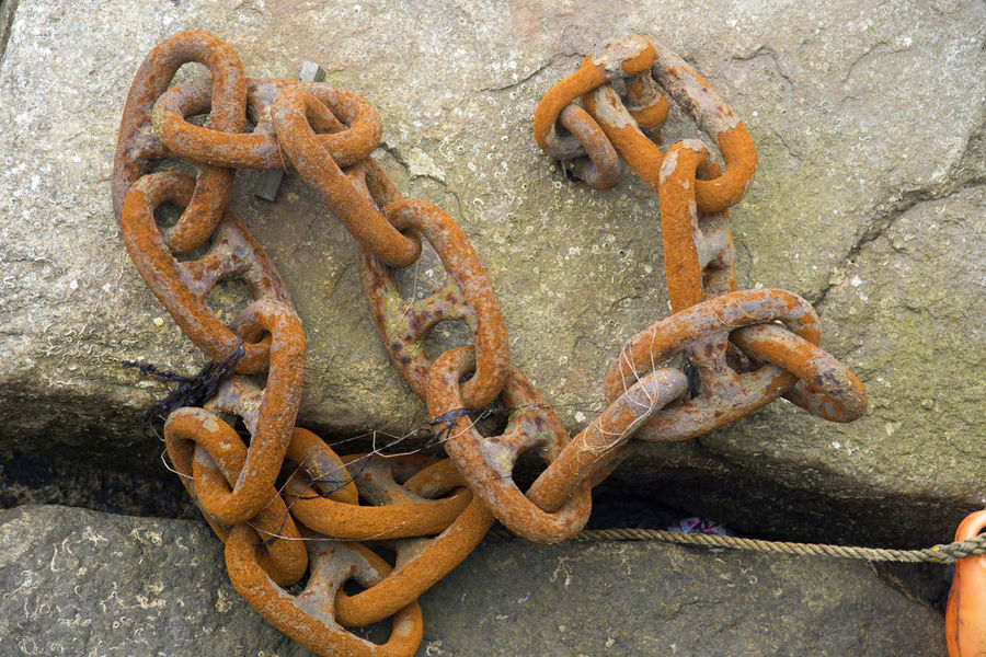 Old rusty Chains Rust Close-up Day Linnks Metal No People Old Outdoors Rusty Chains