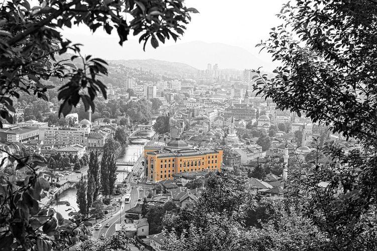 Summertime Point Of View Bosnia And Herzegovina Library City Life City Lights Cityhall Canon600D Art Photography Illuminated Paint The Town Yellow The Street Photographer - 2018 EyeEm Awards