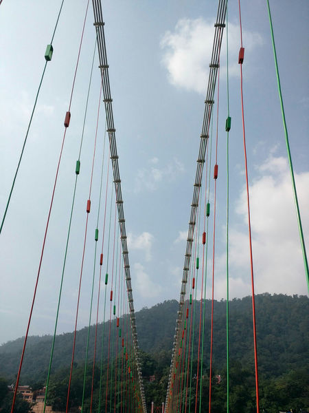 Outdoors Sky Cloud - Sky Day No People Amusement Park Nature Finding New Frontiers Holiday Uttarakhand Enjoying Life Architecture Hanging Bridge Rishikesh Travel Destinations Suspension Bridge Built Structure Connection Bridge - Man Made Structure LaxmanJhula Hanging Out Hello World Enjoying Life Travelling Home For The Holidays Mountain