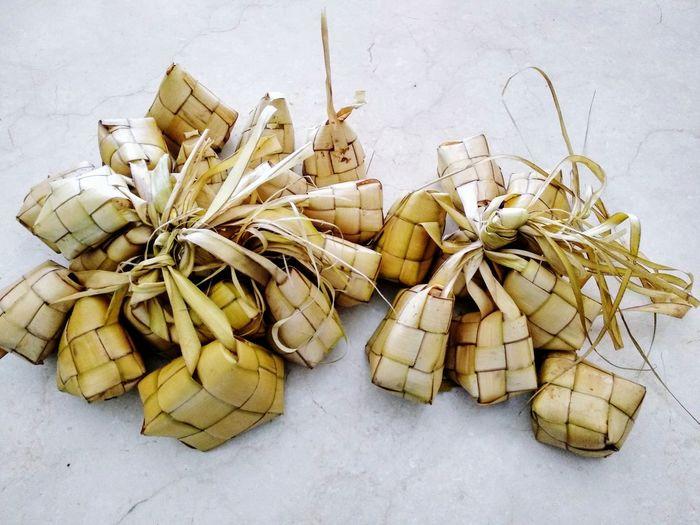 Ketupat Lebaran (Eid Mubarak Special Cuisine) Ketupat Coconut Leaf Rhombus Islam INDONESIA Tradition Eid Mubarak Celeberation Rice Cake White Background Bundle The Foodie - 2019 EyeEm Awards