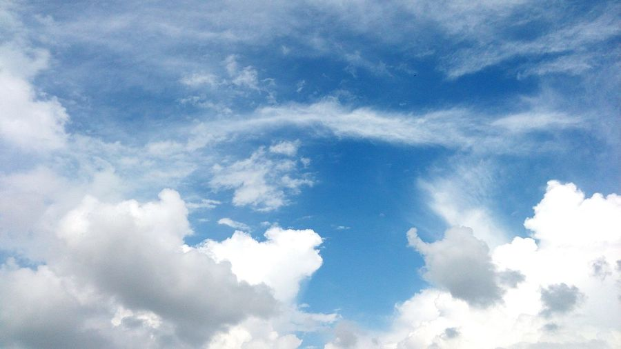Blue Backgrounds Sky Only Abstract Sky Cloud - Sky Cumulus Cloud Cloudscape Dramatic Sky
