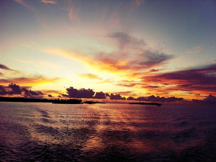sunset at sun island Sunset