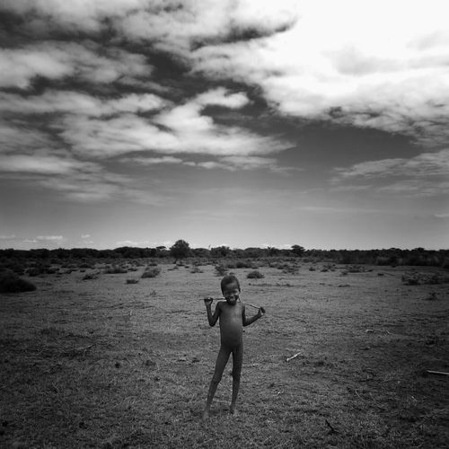 One Man Only One Person Daasanach Omovalley African first eyeem photo African Village Africanlife B&w AfricanStyle Childhood Nature Ethiopia Africa Kid Sky Shepherd EyeEmNewHere Black And White Friday