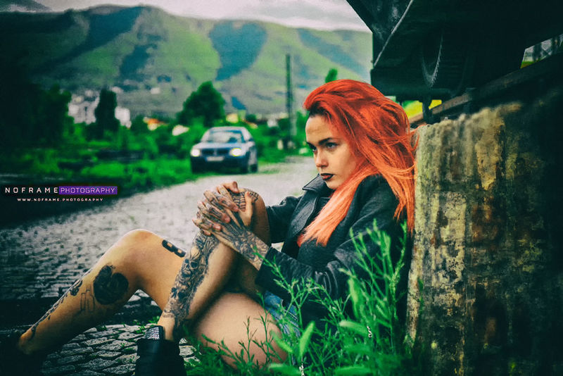 Photography: V.Sokolov ||||| http://noframe.photography/ ||||| http://idleBG.com ||||| Casual Clothing Day Focus On Foreground Girl Girl With Tattoos Headshot Leisure Activity Lifestyles Mountain Nature Outdoors Portrait Redhead Road Tattoo Tattooed Vacations Women Women Who Inspire You