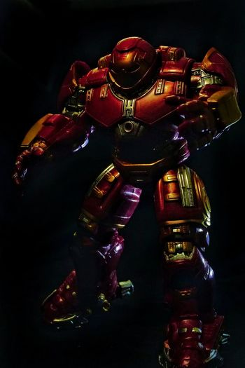 Hulkbuster Hulk Ironman Hobby Suit Body Suit Robot Black Background Close-up