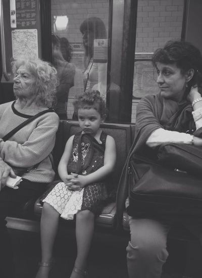Three generations - Paris Metro Click London Click Paris  Street Photography The Portraitist - 2014 EyeEm Awards